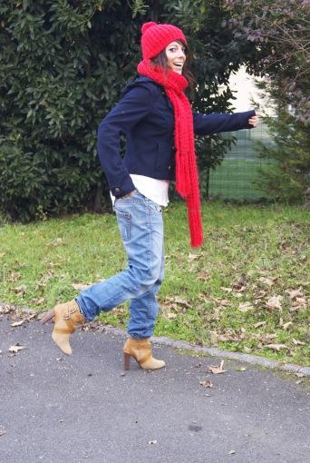 Bonnet/écharpe: Zara - Jean: Levis